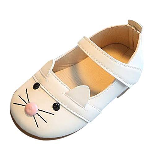 n Modisch Schnürhalbschuhe Kind Süß Karikatur Kätzchen Weich Freizeit Prinzessin Tanzschuhe Lederschuhe Kleinkind Bequem Einfarbig Schuhe ()