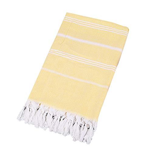 XdiseD9Xsmao Asciugamano da Bagno in Nappa di Cotone Morbido A Strisce Traspirante Asciugamano per Il Viso Palestra Yoga Nuoto Asciugamano da Bagno per Spiaggia 4#