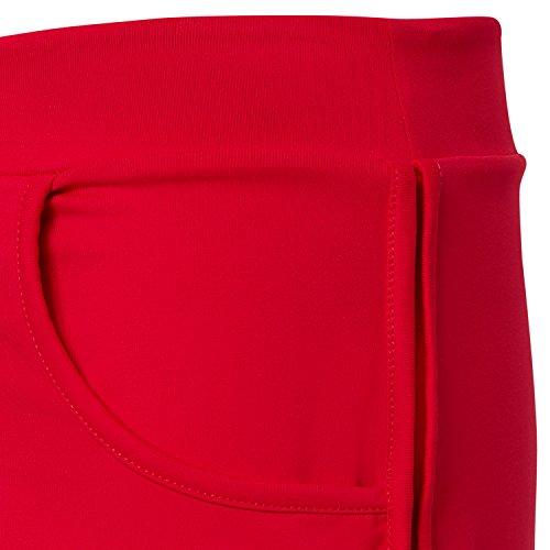 Sportkind Mädchen & Damen Tennis / Volleyball / Sport 2-in-1 Shorts mit Innenhose Rot
