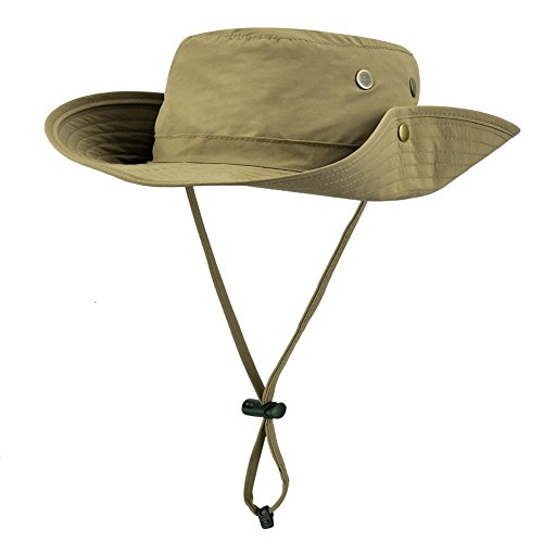 Magic Zone Stylische Outdoor Buschhüte mit Kinnband für Angeln, Camping Radfahren, Jagd, Wandern, Boonie Hat für Damen, Herren, (Verkauf Fedora Für Hüte)