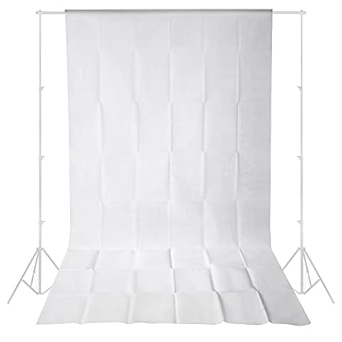 Neewer®10 ft x 20 ft/3 x 6M Non-Tissés Tissu Toile de Fond pour Photo Studio Portrait Photographie Tournage Vidéo (blanc)