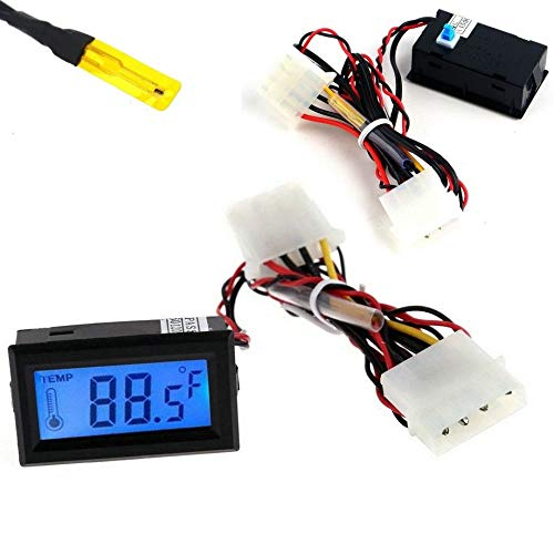 Generic Ermomet Digitales Thermometer, LCD l Thermo Detektor PC Gauge D Auto Mod Mod C Meter Gauge od C/F Mo C/F Molex Panel Mount lex Scheibe Mod Meter