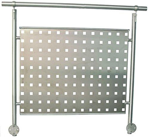 Vortec ALU Lochblech 1250 x 800 x 1,5 mm - RAL 9006 silber metallic - Metallic Pulverbeschichtet
