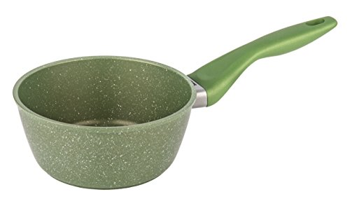 Barazzoni Soul Green Casserole, Long Handle, Internal Lining, Marmotech Green 5 Layers, Diameter cm 16 Litres 1.4. Made In Italy.