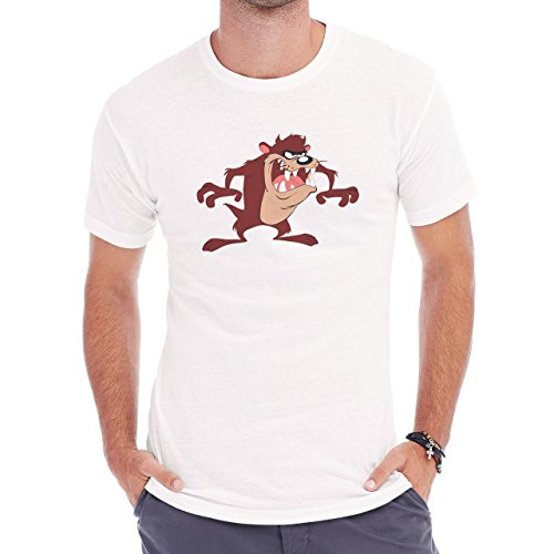 Taz mania Taz Devil Tazmania Calm Herren T-Shirt Weiß