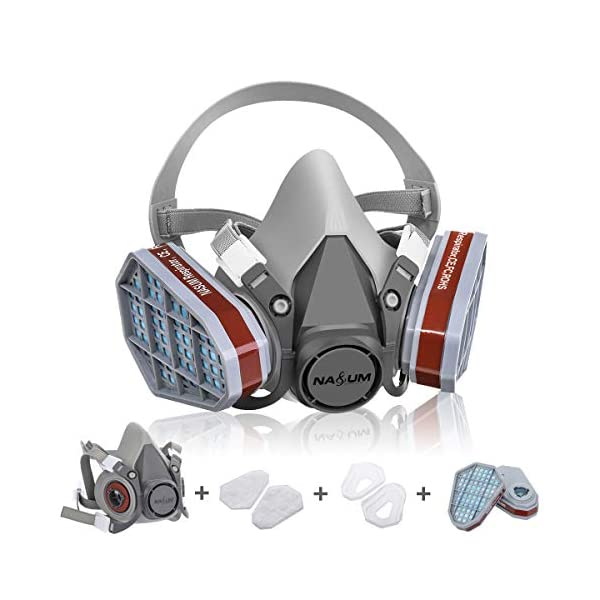 Maschera-Antigas-NASUM-Maschera-Antipolvere-Filtro-di-Protezione-Chimica-Antipolvere-Mezza-Faccia-Riutilizzabile-per-Lavoro-a-SpruzzoVernice