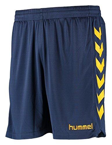 Hummel Jungen Liga Shorts, Vintage Indigo/Sports Yellow, 140 - 152, 13-024-8725