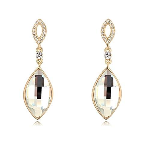 Daesar Ohrringe Vergoldet Ohrhänger Damen Ohrring Mit Zirkonia Ohrring Blume (Amethyst Hängende Uhr)
