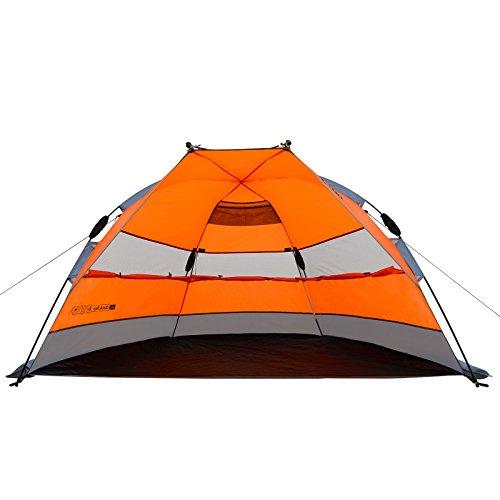 Qeedo Strandmuschel Quick Bay, Strandzelt mit UV-Schutz, Sonnenschutz und 360° Panorama View - orange - 5