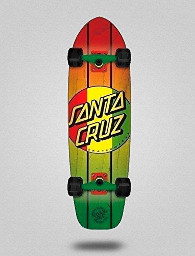 lordofbrands Skate Longboard Cruiser Complete ¨Santa Cruz¨. Rasta Dot Jammer Mid 9.22 X 33 Rasta Dot