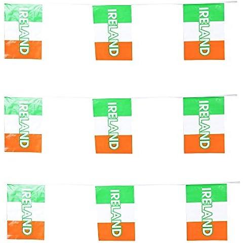 Irlanda partito Bunting/varie lunghezze, Multi, 18 M - Colori Bandiera Irlandese