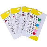 6PCS Windel Pins Edelstahl Windel Nappy Pins mit Sicher verschließbar Drehverschluss Verwendung für besondere Anlässe Crafts oder Colorful Wäsche Pins