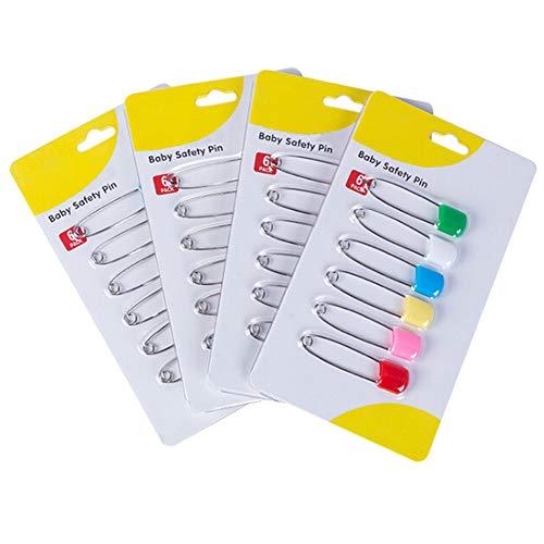 Windelnadeln aus Edelstahl mit sicheren Verschlüssen, für besondere Anlässe, Basteln oder bunte Wäscheklammern, 6 Stück (Windeln Größe 1 Bulk)