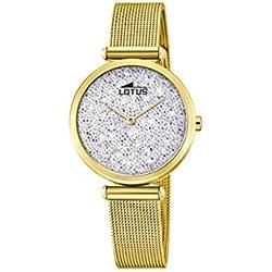 Lotus Watches Reloj Análogo clásico para Mujer de Cuarzo con Correa en Acero Inoxidable 18565/1