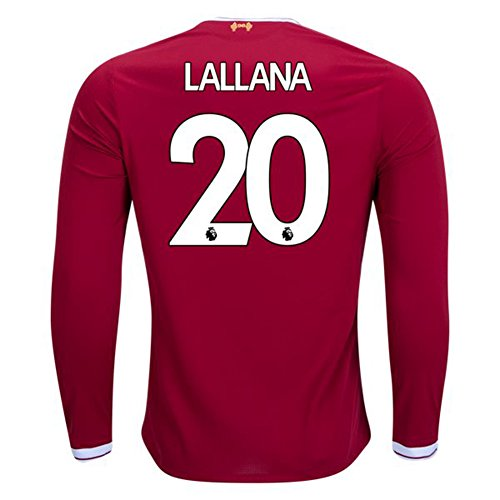 2017/2018 Premier League Adam Lallana Liverpool Long Sleeve Home Football Soccer Jersey In Red For Men