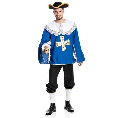 etier-Kostüm Herren mit Spitzkragen Karnevals-Kostüm Größe 52/54 ()