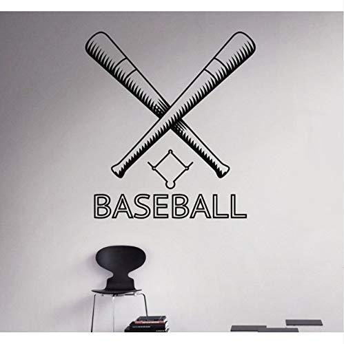 Hwhz 42 X 60 Cm Baseball Wandaufkleber Dekoration Benutzerdefinierte Name Spiel Jungen Schlafzimmer Dekor Wandtattoos Jeder Raum Wasserdichte Aufkleber (Halloween Raum Spiele Dekor)