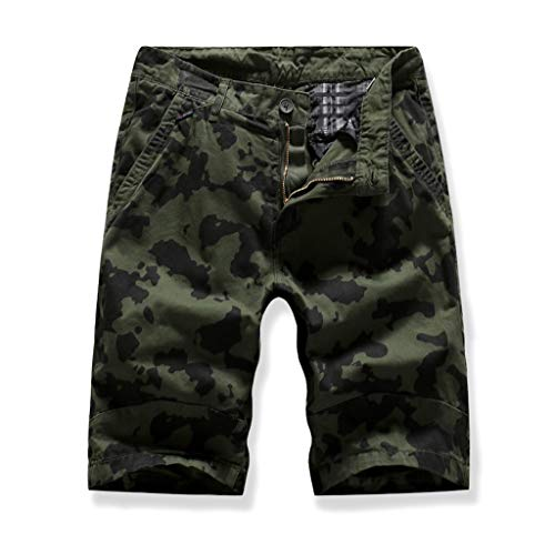 Cargo Shorts Herren Chino Kurze Hose Sommer Bermuda Sport Jogging Training Stretch Shorts Fitness Vintage Regular Qmber,Modeaccessoires Bequeme Shorts/AG,30 -