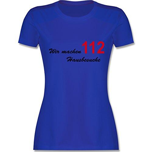 Feuerwehr - Wir machen Hausbesuche - tailliertes Premium T-Shirt mit Rundhalsausschnitt für Damen Royalblau