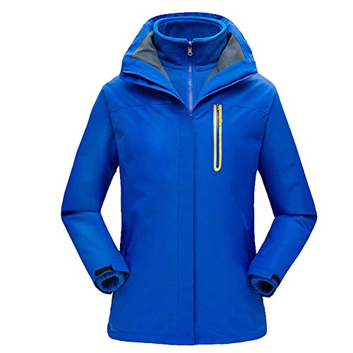 41RzAA44L%2BL. SS500  - 3 in 1 Women Windproof Jacket Detachable Hood & Fleece Liner Ladies Rain Coat with Zipped Pockets Plus Size