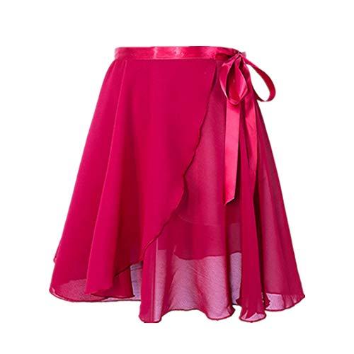 Lineary Aus weicher, haltbarer Baumwollmischung Frauen Flauschige Tutu Kostüm Ballett Tanz Rock zum Laufen Balletttanz Kostüm (Farbe : Rot)