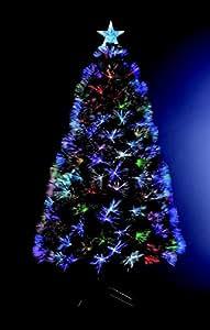 Sapin de no l artificiel lumineux avec fibre optique 170 - Sapin de noel lumineux fibre optique ...