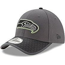 Seattle Seahawks New Era NFL 39THIRTY 2017 Sideline Graphite Flex Fit Hat Hut