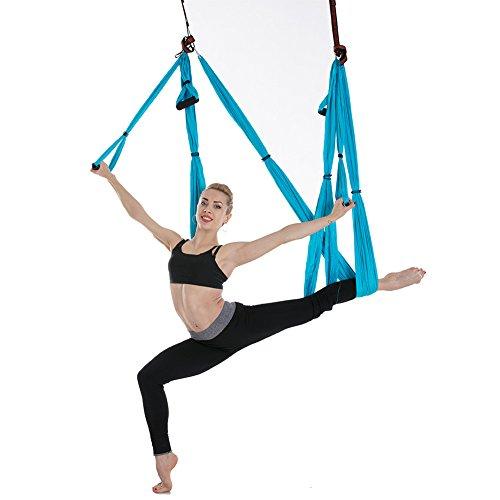 Wiiguda@ Antigravità Yoga Amaca Altalena Inversione Aerea Cinturino Multifunzione Yoga Swing Attrezzatura Fitness Swing Regalo per Donna