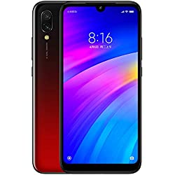 Xiaomi Redmi 7 Smartphone, 3GB RAM 32GB ROM Dual SIM Qualcomm Snapdragon 632 Octa 8MP Delantero 12MP + 2MP de Doble cámara (Rojo)