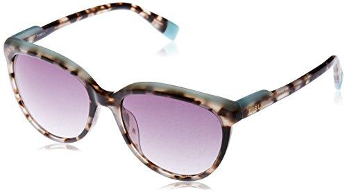 Furla eyewear, occhiali da sole donna, multicolore (white havana+shiny black), 54