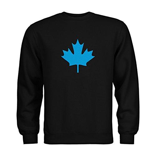 dress-puntos Kids Kinder Sweatshirt Kanada Ahorn 20drpt15-ks00033-50 Textil black / Motiv hellblau Gr. 152/164