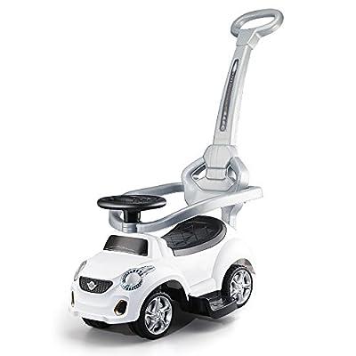 QFFL Coche que tuerce de los niños / 1-3 bebé / vespa / equipado de un carro de juguete de la rueda de la música / de la carretilla / del sonido reservado Coche de niño