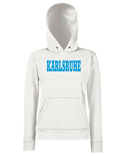 T-Shirtshock - Sweats a capuche Femme WC0793 KARLSRUHE GERMANY CITY Blanc