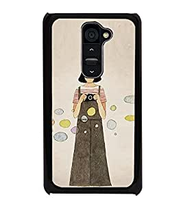 Girl with Camera 2D Hard Polycarbonate Designer Back Case Cover for LG G2 :: LG G2 D800 D802 D801 D802TA D803 VS980 LS980