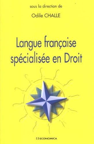 Langue française spécialisée en Droit