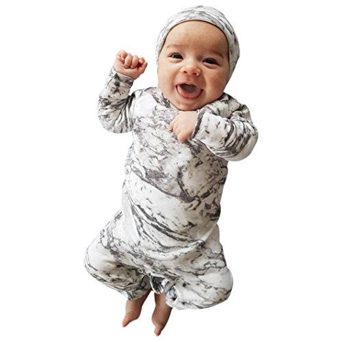 Preisvergleich Produktbild Kleidung Set Von Xinan Neugeborenen Langarm Drucken Overall Kleidung Outfit (100,  Grau)
