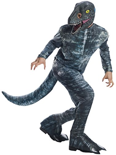 Rubie's Rubie´s Unisex Kostüm, Mehrfarbig, X-Large Chest 48-50-inch, Waist 42-46-inch (Jurassic Park Kostüm)