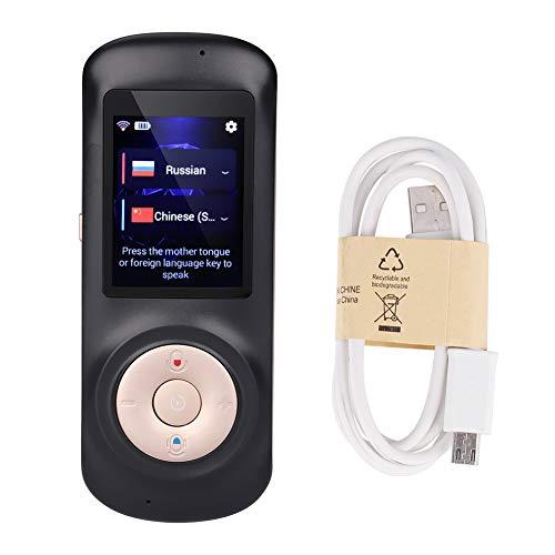 Übersetzer Gerät - Smart Wireless Portable Übersetzer, Echtzeit Instant Voice Translation, Unterstützung 52 Sprachen Schwarz, Weiß, Streifen (Color : Black)