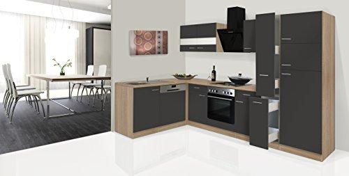 respekta Economy ángulo de l Forma de Cocina Roble Gris 310x 172cm...