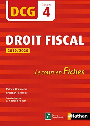 DCG 4 - Droit fiscal - 2019/2020 (Fiches de cours)