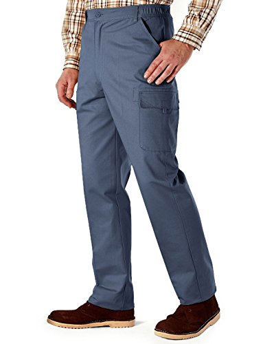 para Hombre Chums Pantalones el/ásticos Forrados con Polar con Multibolsillos