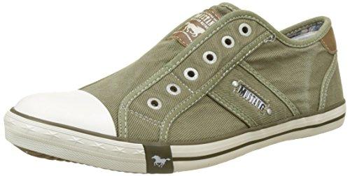 MUSTANG Herren 4058-401-777 Slip On Sneaker, Grün (Khaki 777), 45 EU