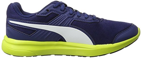 Puma escaper Mesh, Scarpe da Ginnastica Basse Unisex-Adulto Blu (Blue Depths-white-nrgy Yellow)