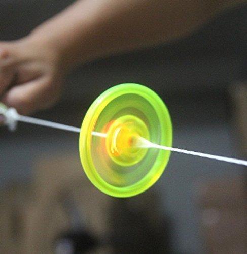 UChic 5 STÜCKE Neue Hand Pull Luminous Blinkende Seil Schwungrad Spielzeug Leuchten Spielzeug Neuheit Für kinder Geburtstag Lustige Geschenk Mix Farbe (Multi-seil-leuchten)