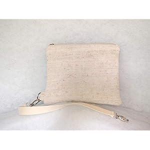 Taschenorganizer, Clutch, Kosmetiktasche, kleine Tasche, Leinen handgewebt