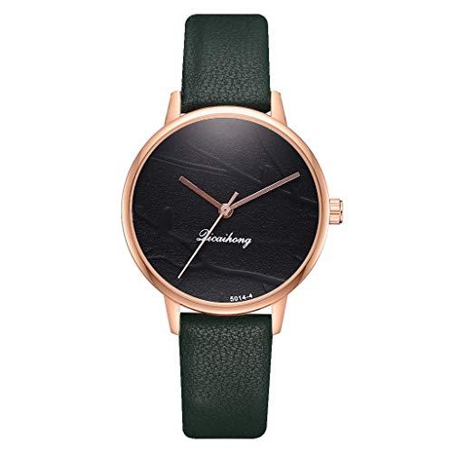 SoonerQuicker Uhrfrauenverkauf Art- und Weiseeinfache drei Farben-flache Vorwahlknopf-Gurt-Quarz-weibliche Uhr - Muster Flache Geldbörse