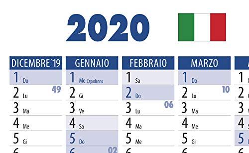 Calendario Anno 2020.2 Pezzi Calendario Anno Planner Poster Calendari Per 2020