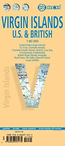 Virgin Islands / Jungferninseln: 1:80 000 (Borch Map) -