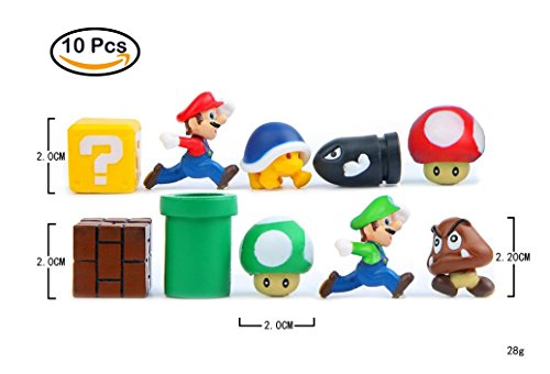 Super Mario imanes imanes nevera 3d, 10 piezas, de pared de...
