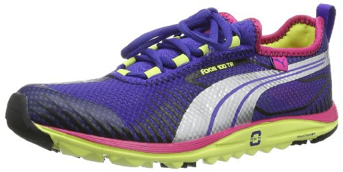 Puma Faas 100 TR Wn's, Chaussures de running entrainement femme Multicolore - Mehrfarbig (spectrum blue-sunny lime 06)